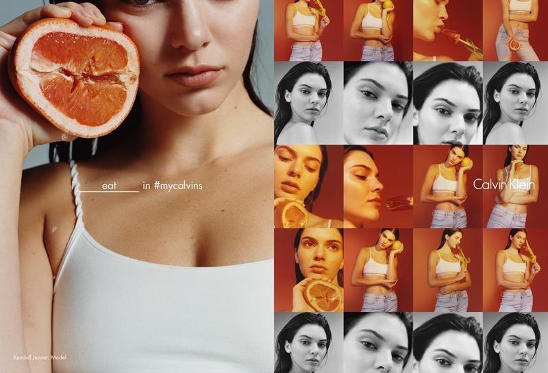 "Kendall Jenner na nova campanha global da Calvin Klein, ""Erotica"", divulgada nas redes sociais"