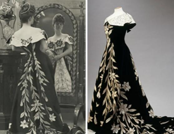Maison Worth, Robe aux Lys, 1896 ©Reprodução