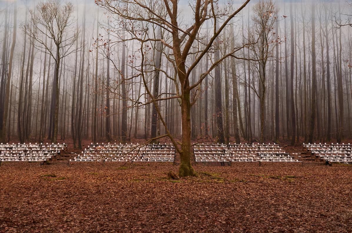 O bosque montado para o desfile da Chanel Inverno 19 / Cortesia