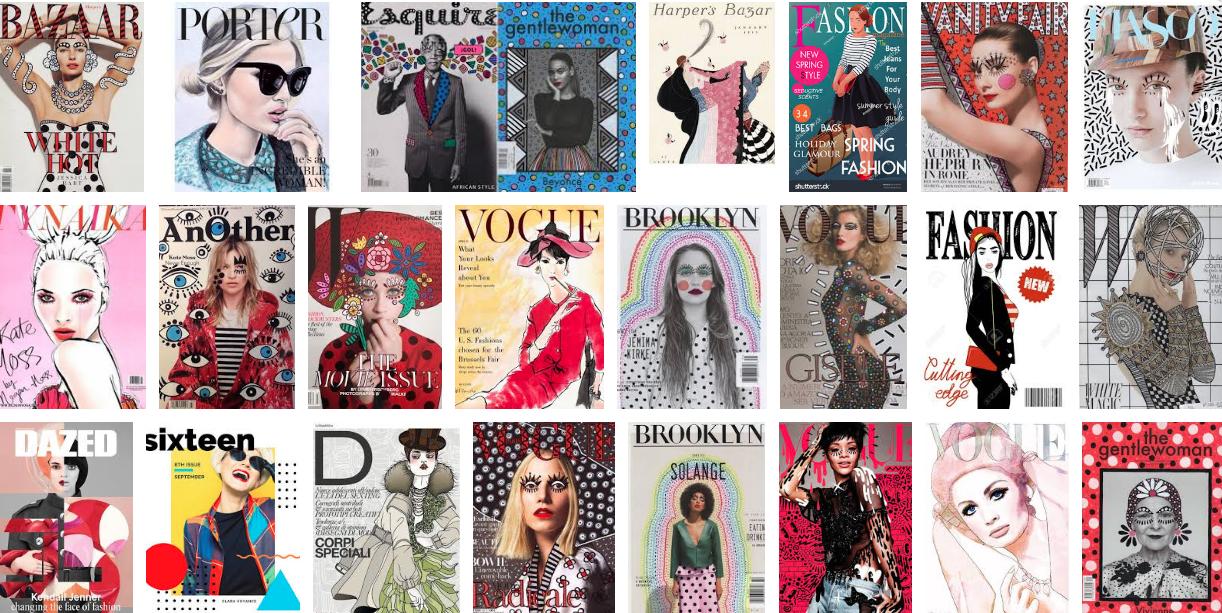 Capas de revistas ilustradas / Reprodução