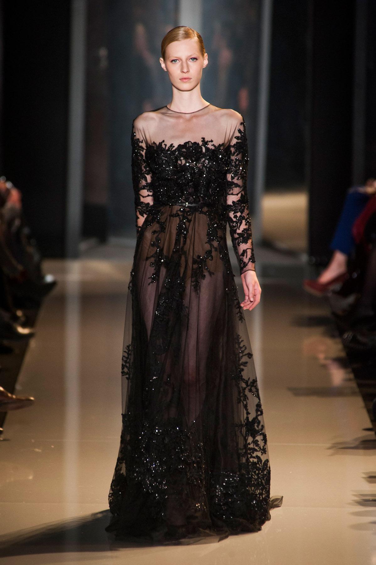 Elie Saab Fall 2013 Couture Runway - elle.com