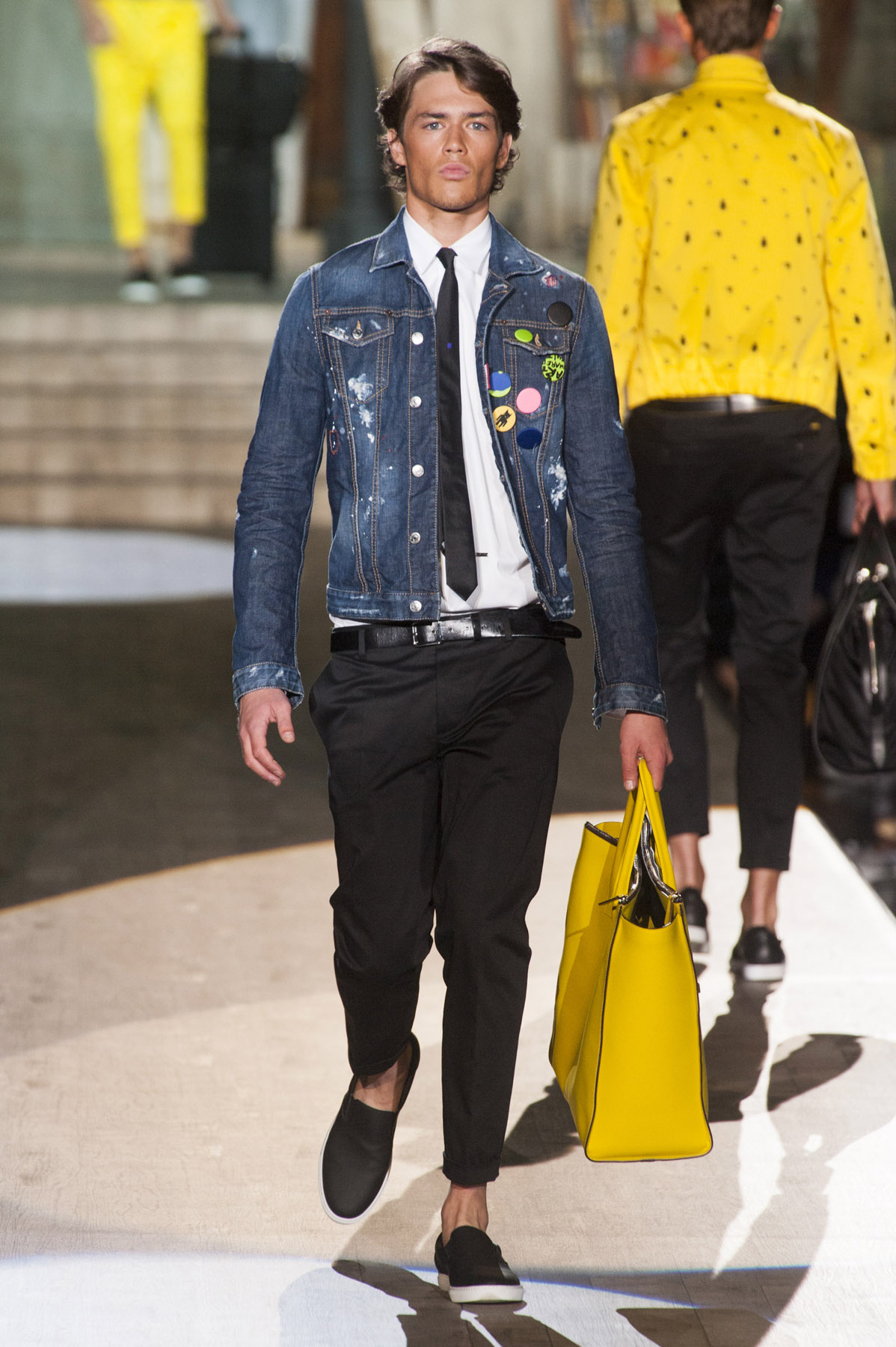 Cole o dsquared2 mil o ver o 2015 rtw desfiles ffw Fashion week 2015 men s hairstyle
