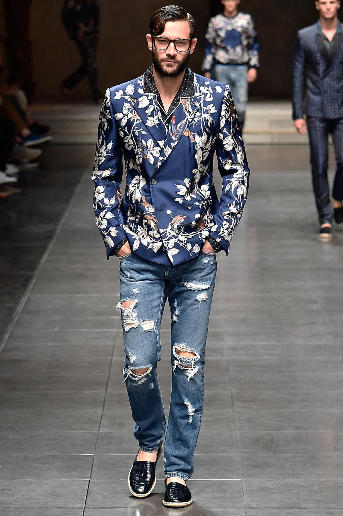 Male Fashion Black Jeans