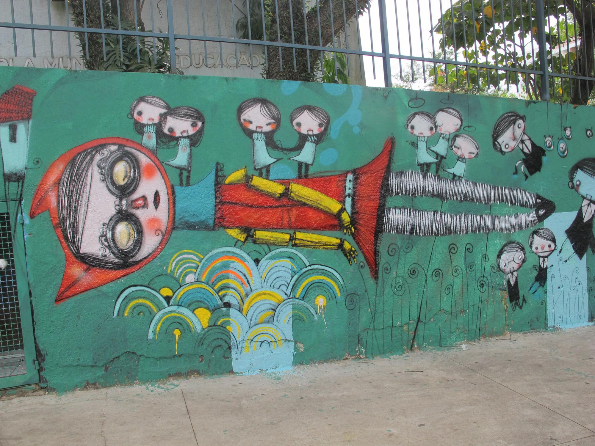 Criação do artista Vermelho, um dos participantes da Bienal do Graffiti ©Divulgação
