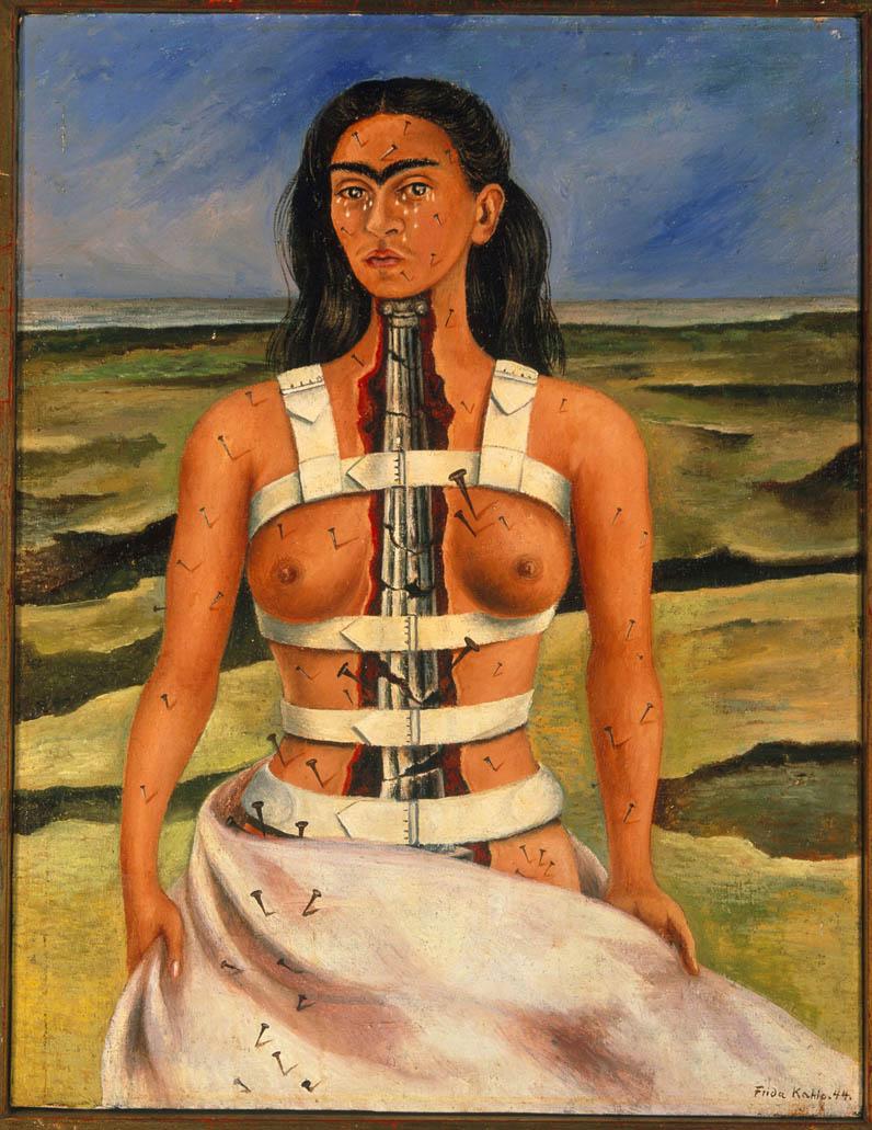 Frida-kahlo-exposicao-sao-paulo-A-coluna-partida-1944