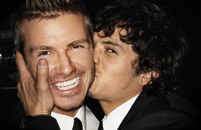David Beckham e Orlando Bloom em 2009 ©Mario Testino/Reprodução