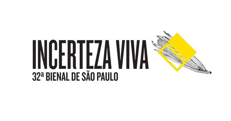 Um dos cartazes de anúncio da 32ª edição da Bienal de Arte de São Paulo