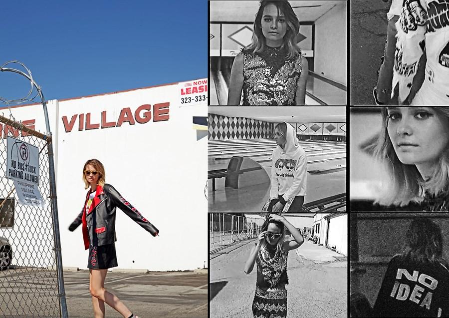 Creevy na campanha SS16 da label Emma Mulholland