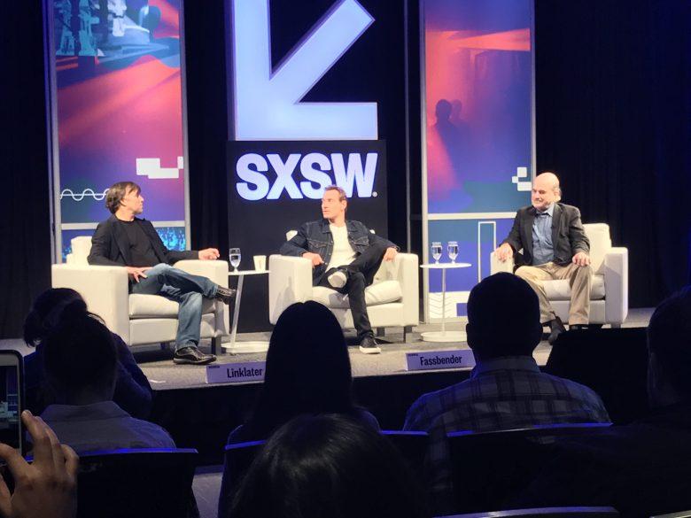 Richard Linklater, Michael Fassbender e Terrence Malick em conversa no SXSW ©Reprodução