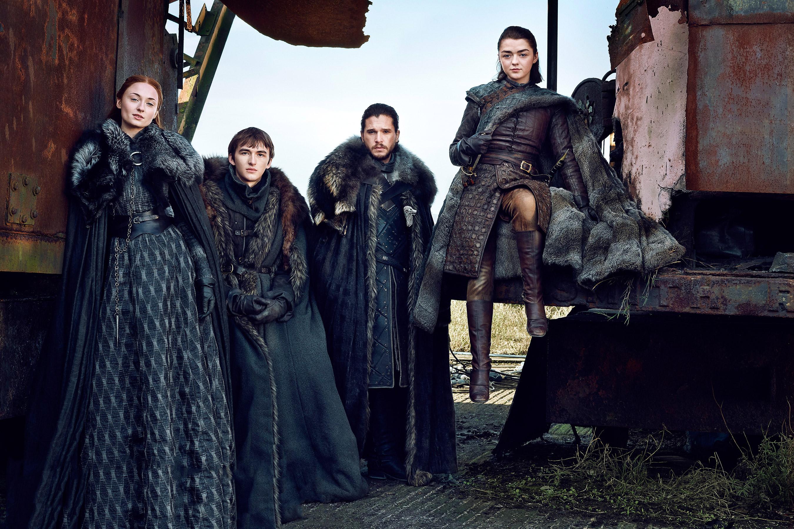 House of Stark: Sansa, Brandon, Jon Snow e Arya na sétima temporada ©Reprodução