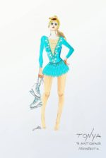 I, Tonya sketch CR: Costume Design by Jennifer Johnson, Illustration by Joanna Bush