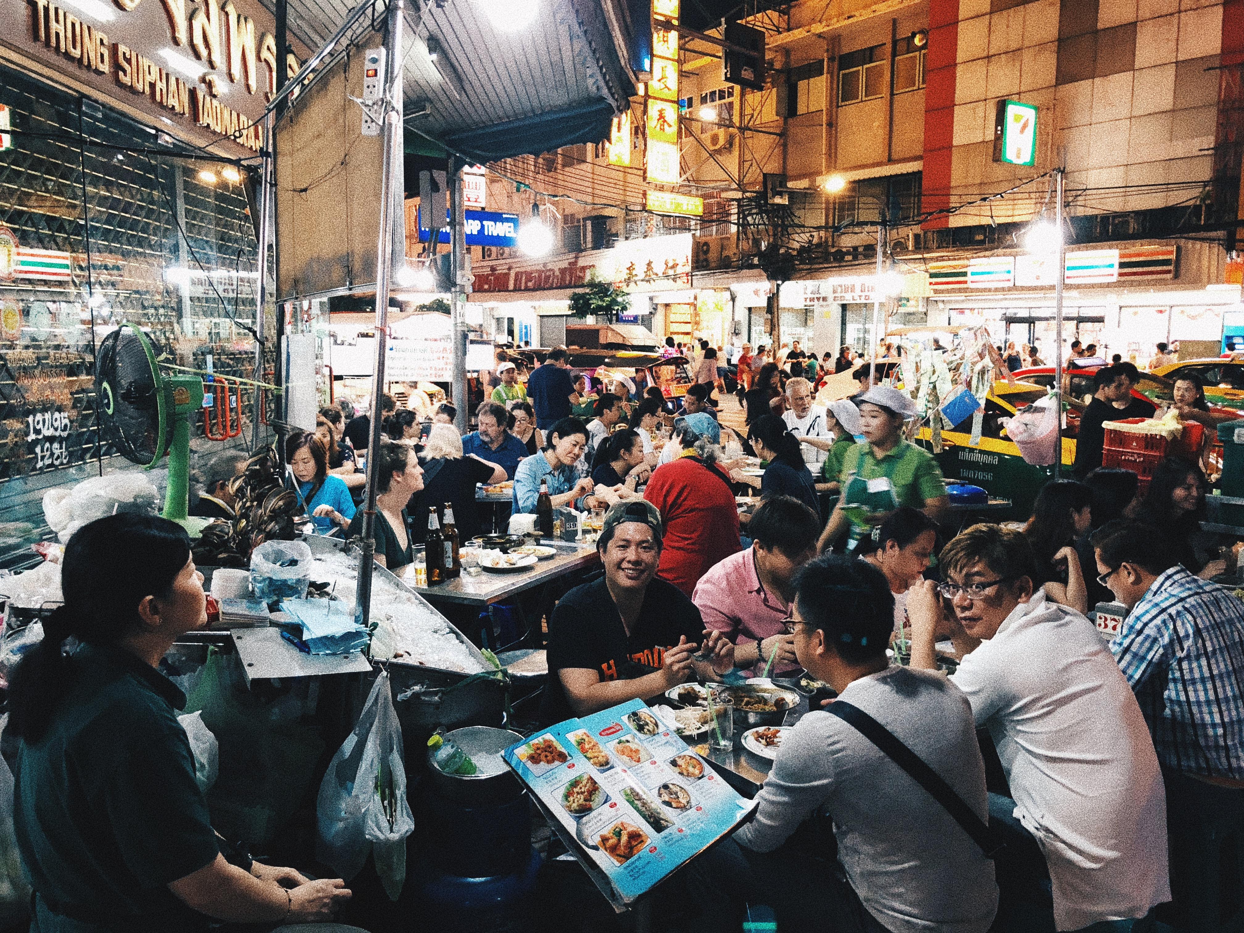 """""""restaurantes""""de rua em Chinatown são uma aventura à parte. Foto: Augusto Mariotti"""