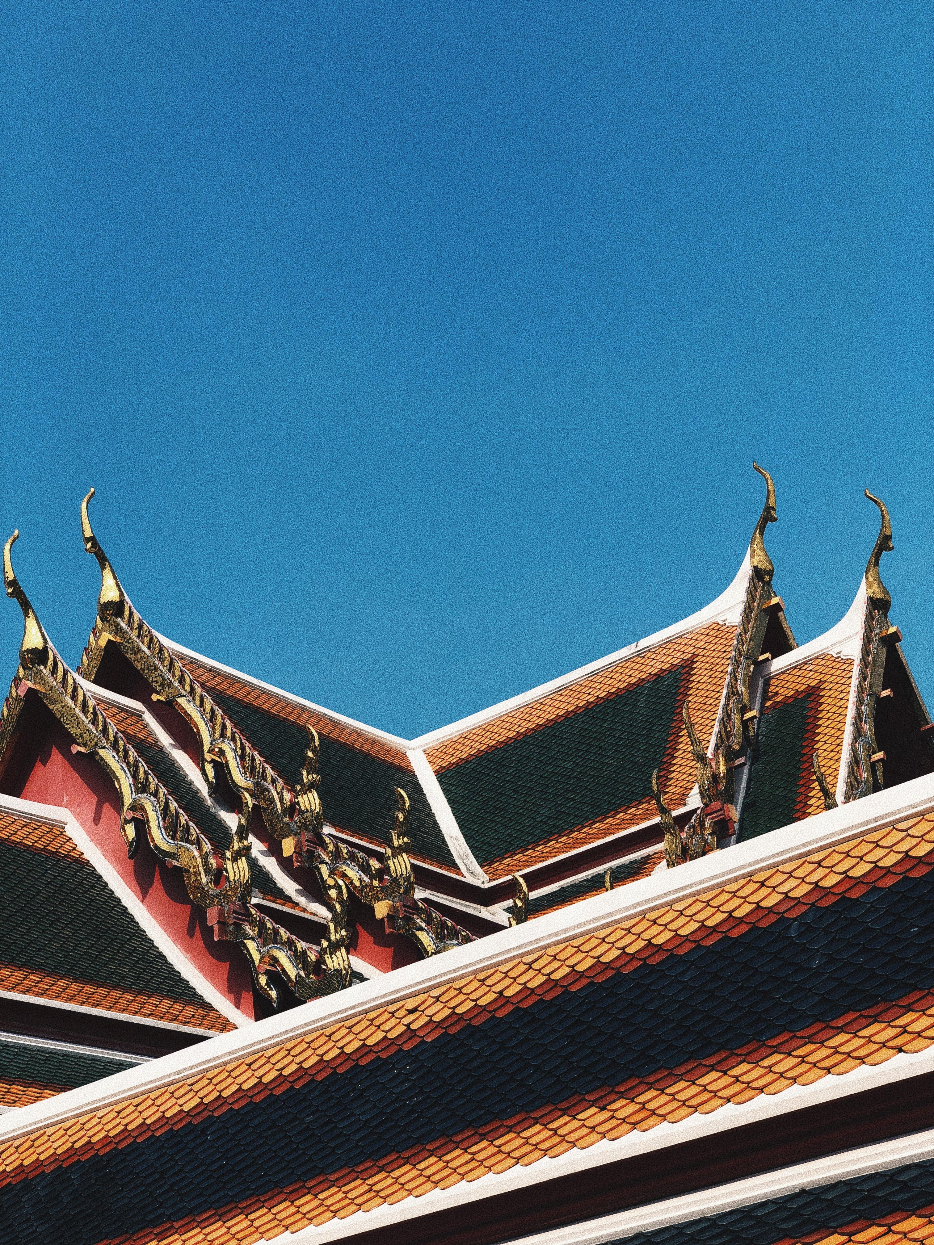 telhados listrados no templo Wat Pho. Foto: Augusto Mariotti