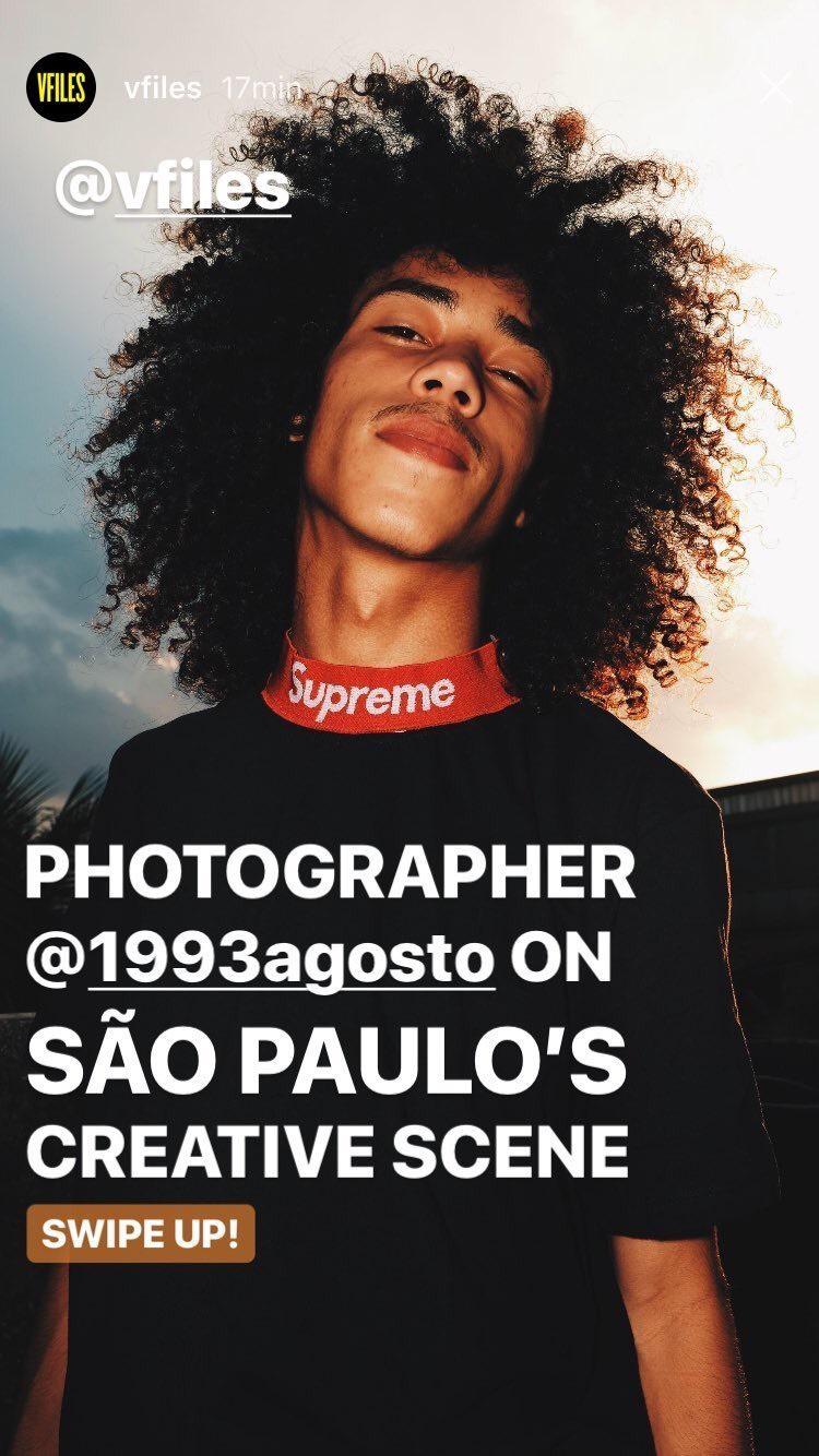Storie do Instagram da VFiles divulgando o trabalho do @1993agosto © Cortesia