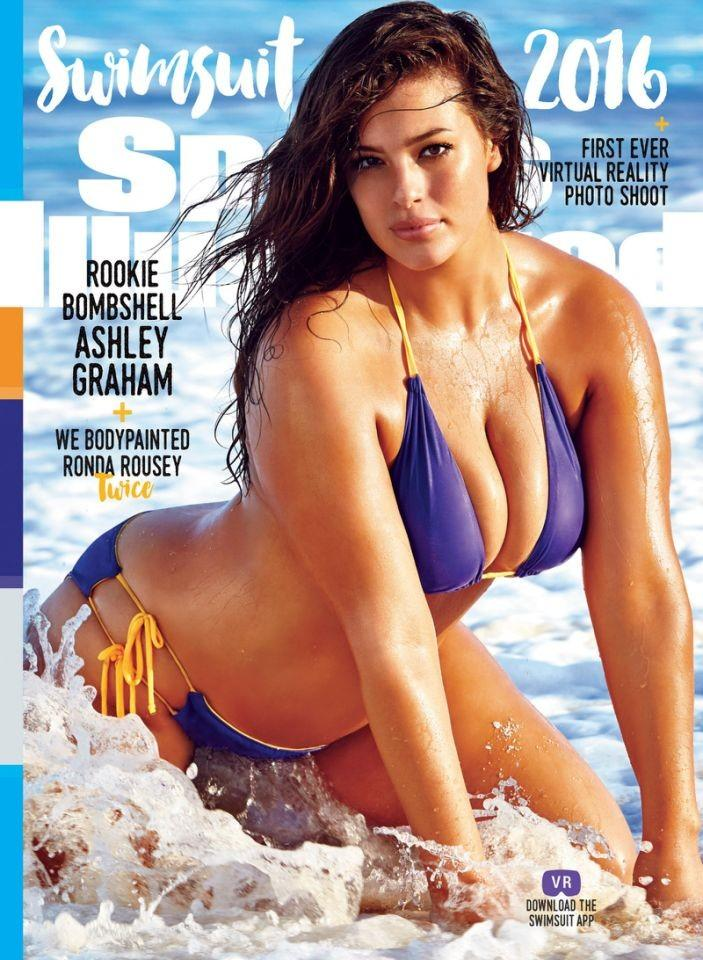 "Ashley Graham para ""Sports Illustrated"" James Macari/Reprodução"