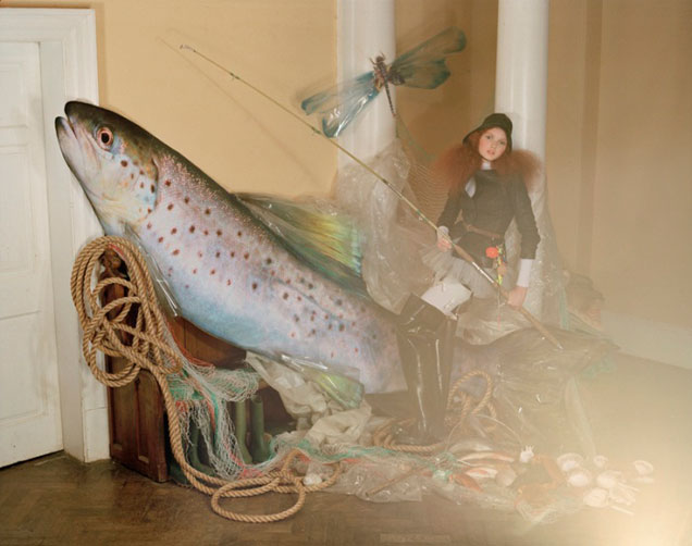 "''Lily Cole and Giant Fish"", de 2004"