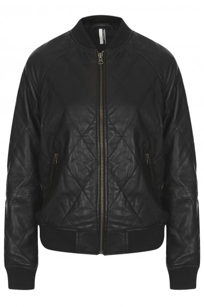 Topman, Large Quilt Leather Bomber, R$ 849