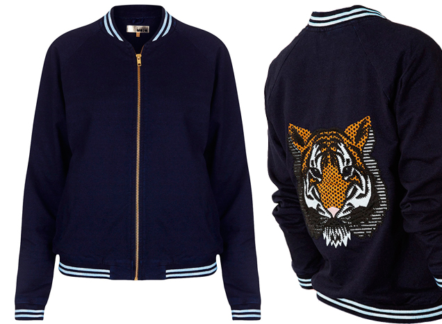 Topshop, Moto Embroidered Tiger Bomber, R$ 299