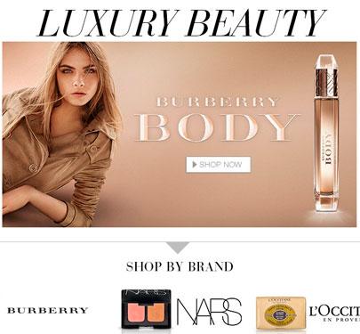 Gigante de vendas online Amazon lança página dedicada a produtos de beleza de luxo