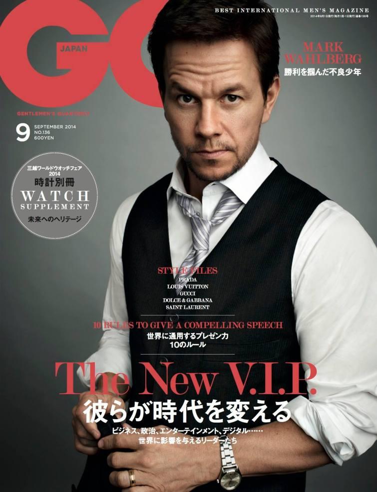 Galeria de Fotos September issue: revistas apostam em tops ... Mark Wahlberg
