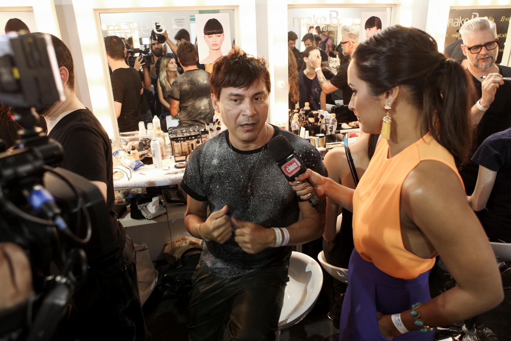 Silvio Giorgio em entrevista nos bastidores da Lolitta ©Agência Fotosite