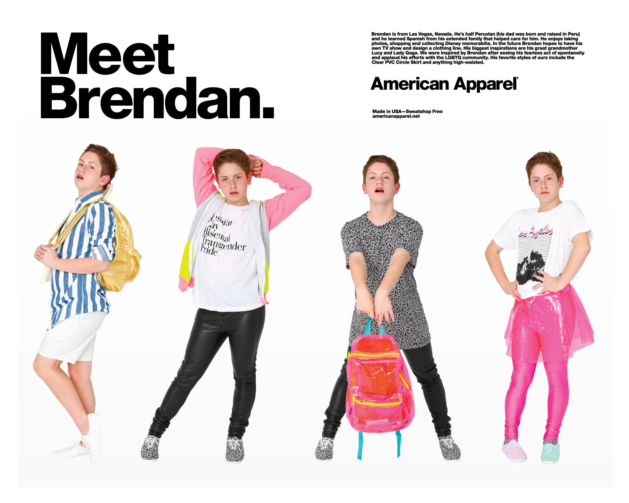 Brendam Jordan american apparel modelo celebridade internet
