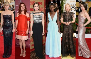 Jennifer Lawrence, Julianne Moore, Alisson Williams, Lupita Nyong'o, Cate Blanchett e Emilia Clarke ©Getty Images