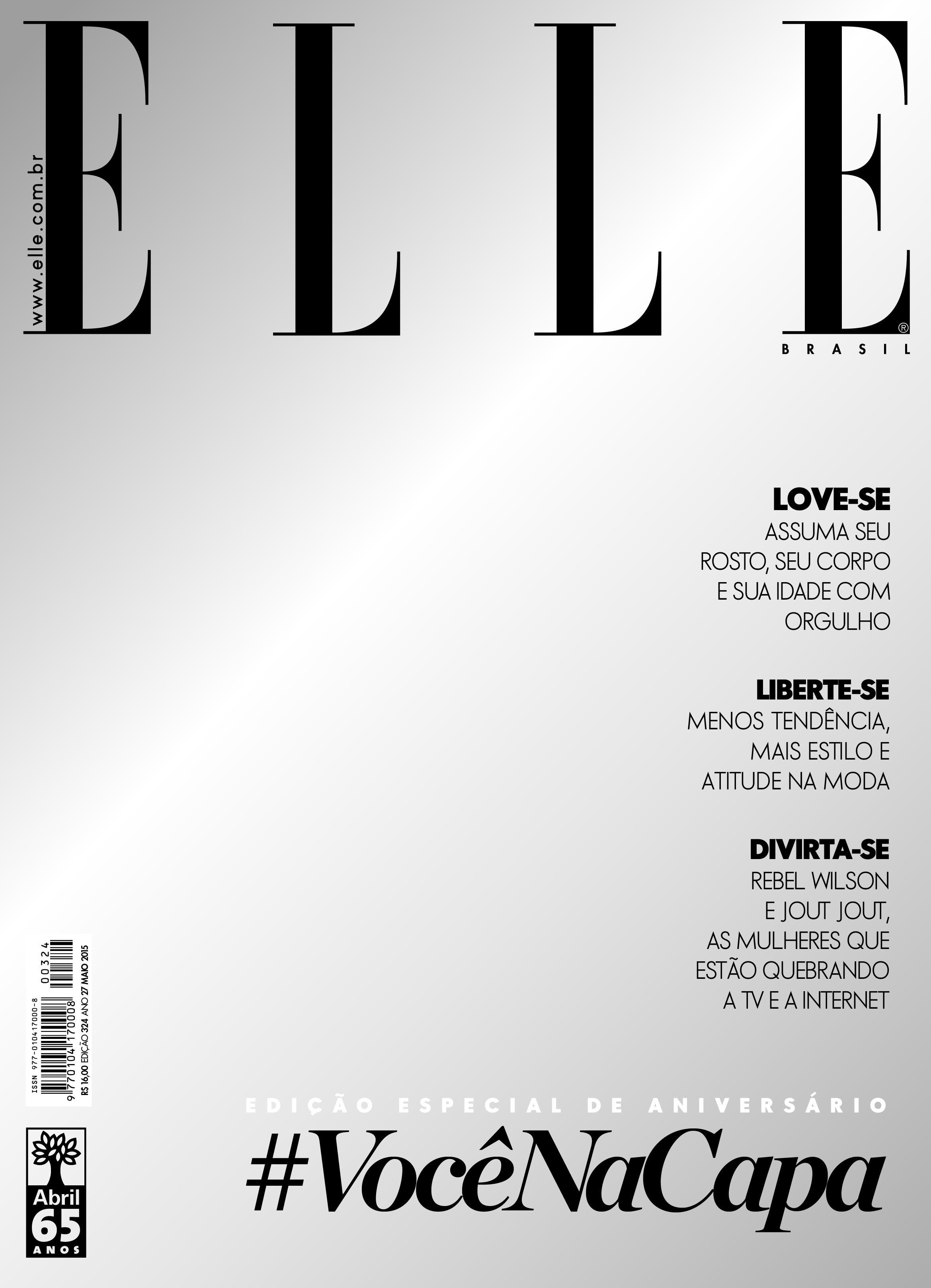 """Edição de aniversário da """"Elle"""" Brasil traz capa espelhada ©Divulgação"""