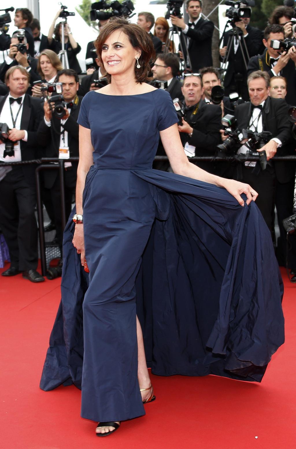 Ines de La Fressange apostou nas flats no Festival de Cannes