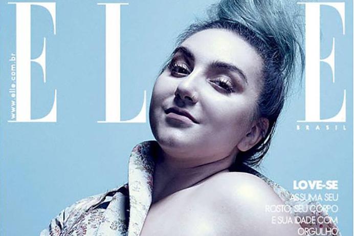 """Versão da capa da """"Elle"""" de maio com Juliana Romano ©Reprodução"""