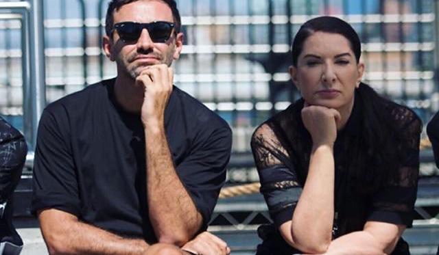 Riccardo Tisci e Marina Abramovic, antes do desfile da Givenchy para o Verão 2016