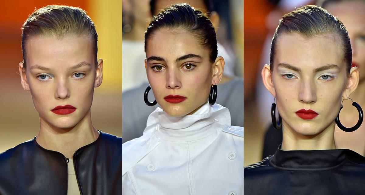 Detalhes de beleza que mudam conforme a modelo em muitos desfiles, como o da Céline