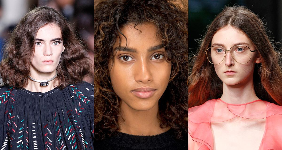 Cabelos com cara de intocados e beleza leve na Louis Vuitton, Isabel Marant e Gucci