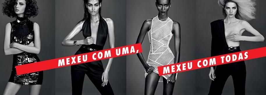 As modelos da capa de Dezembro da Elle Brasil. Foto © Divulgação