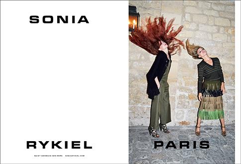 Campanha da Sonia Rykiel com styling de Alexia (Foto: Reprodução)