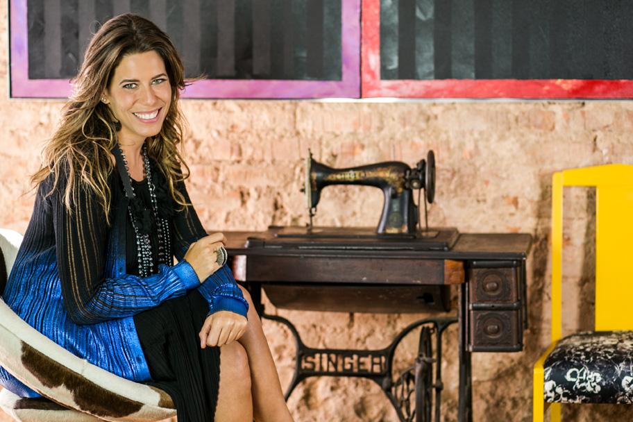 A consultora e representante do Instituto Marangoni no Brasil, Luiza Bomeny. Ela media os bate-papos no Rio e em SP