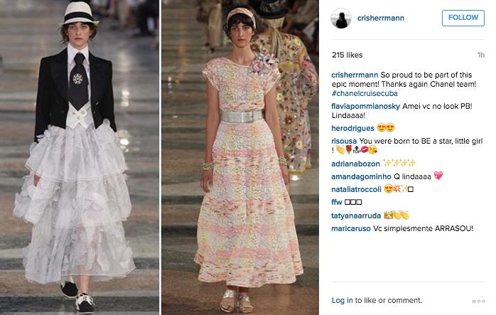 Os dois looks de Cris Herrmann ©Reprodução Instagram
