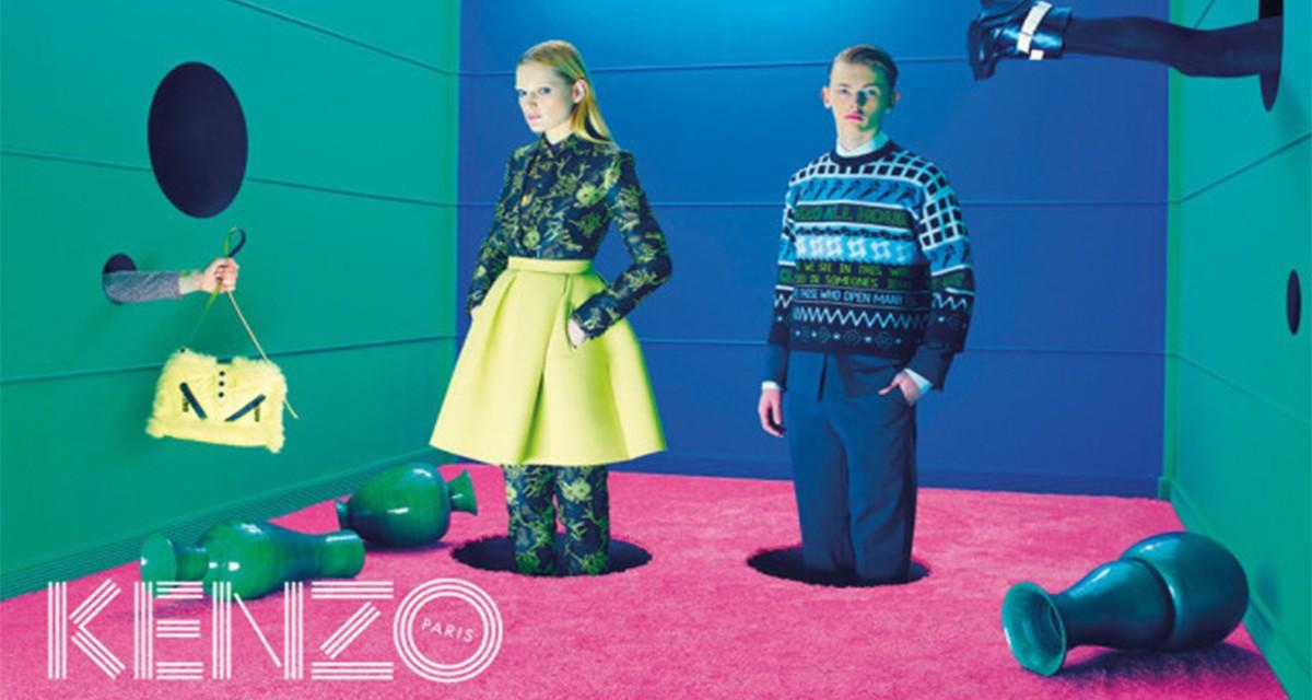 Campanha de Inverno 2014 da Kenzo, inspirada no universo surrealista de David Lynch ©Reprodução