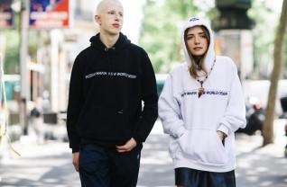 O street style durante a semana de moda masculina de Paris para o Verão 2017 ©Agência Fotosite