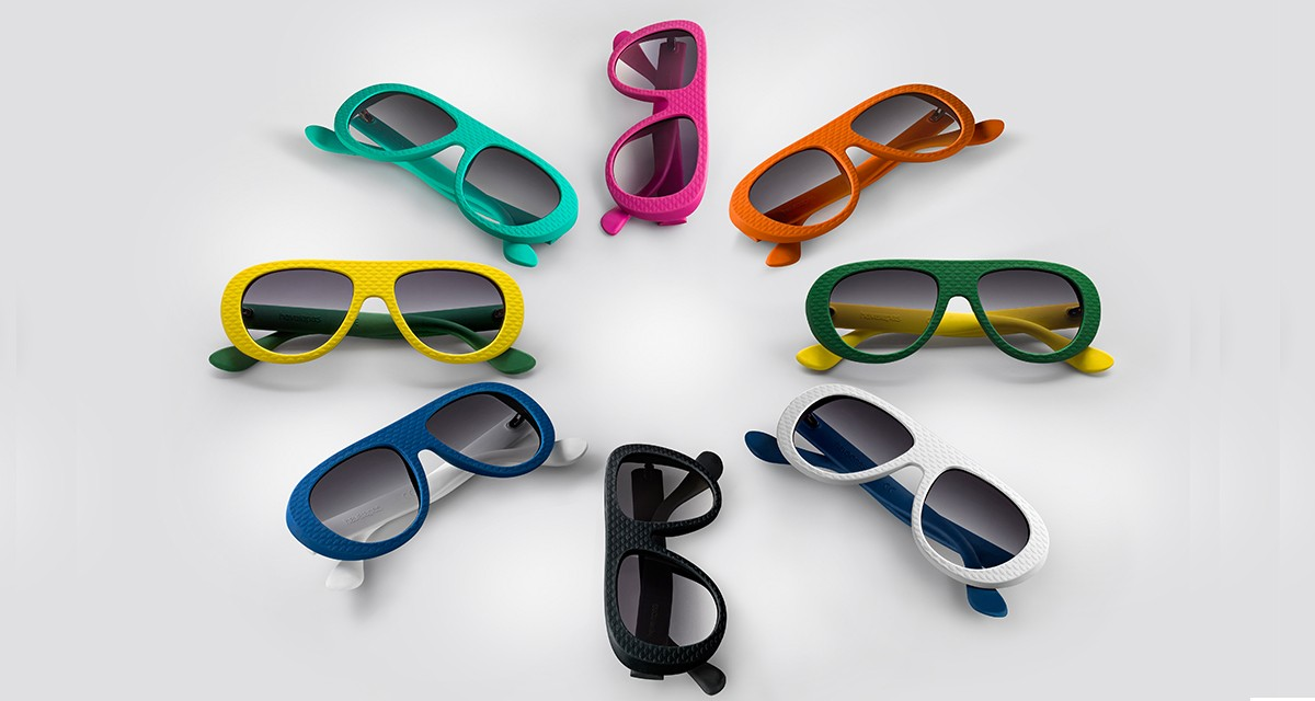 """O modelo de óculos """"Rio"""", que chega na semana que vem às lojas da Havaianas ©Reprodução"""
