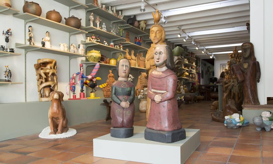 Peças em exposição na Galeria Pé de Boi, em Laranjeiras ©Reprodução