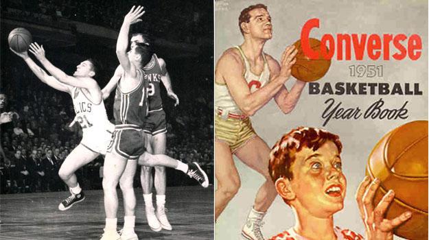 Propaganda do tênis Converse, usado desde os anos 20 e por décadas pelos atletas de basquete, inclusive nas Olimpíadas ©Reprodução