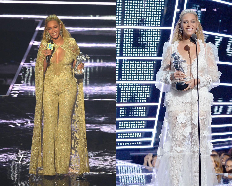 Beyoncé escolhe looks rendados que exaltam sua silhueta ©Reprodução