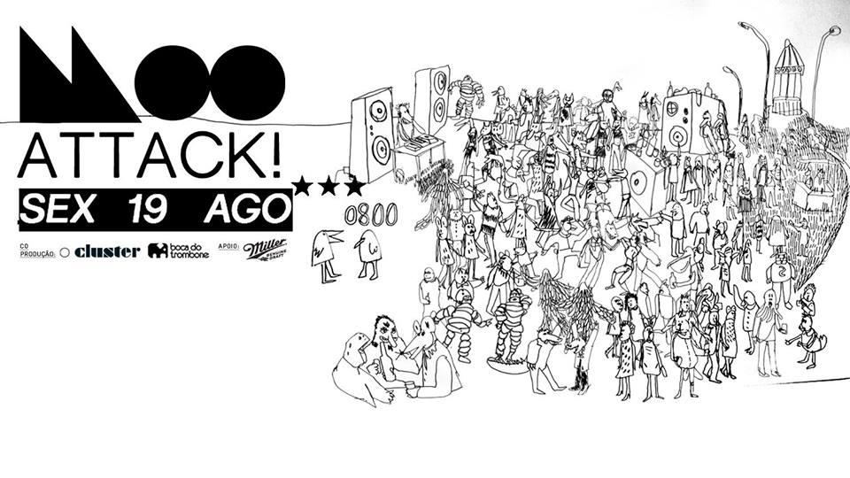 Flyer da Moo, que acontece no próximo dia 19.08  ©Reprodução