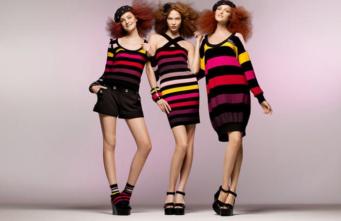 Campanha de Sonia Rykiel em 2010 com Carol Trentini e Karlie Kloss