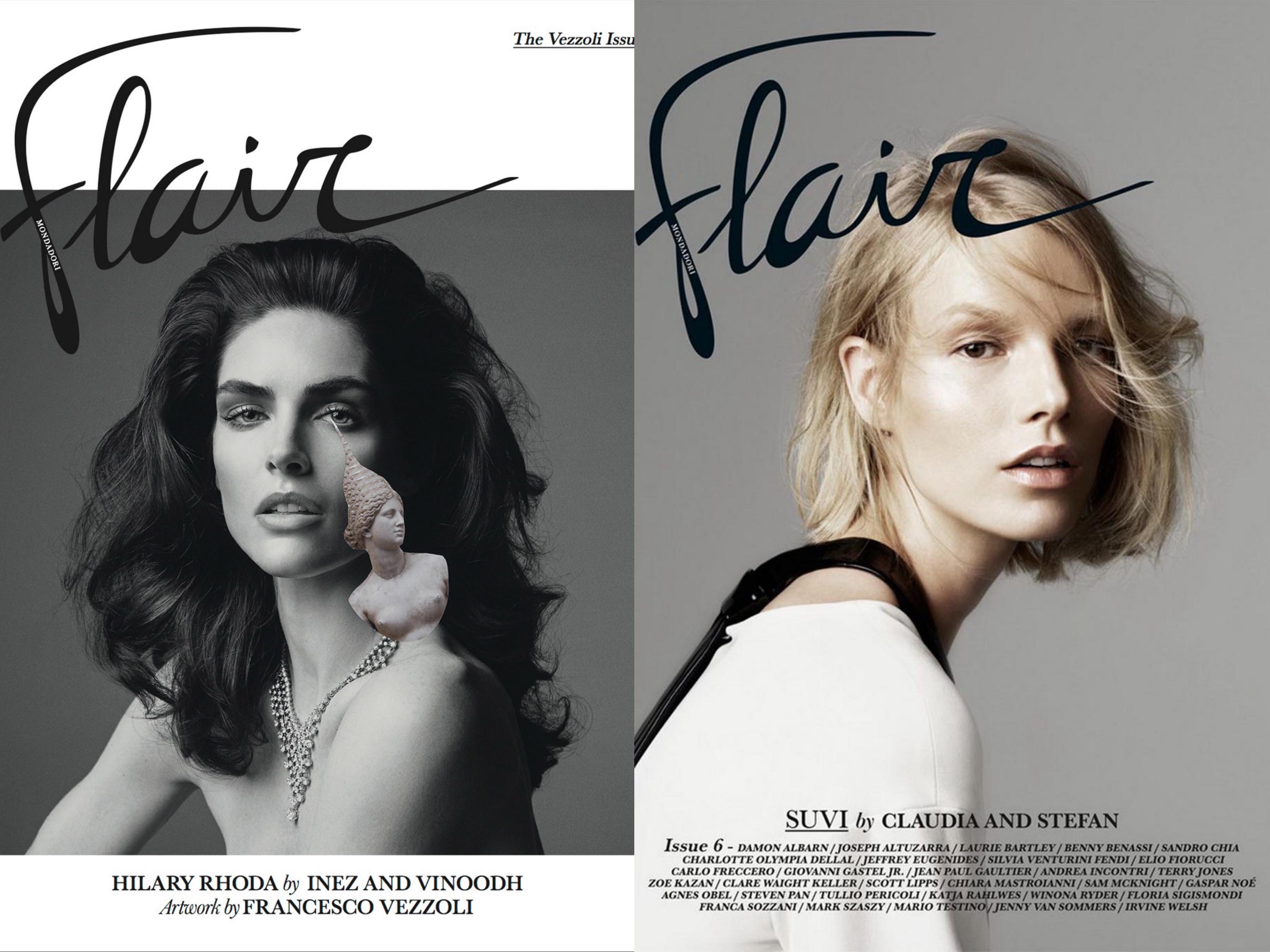 Capas da Flair sob o comando de Farneti © Reprodução