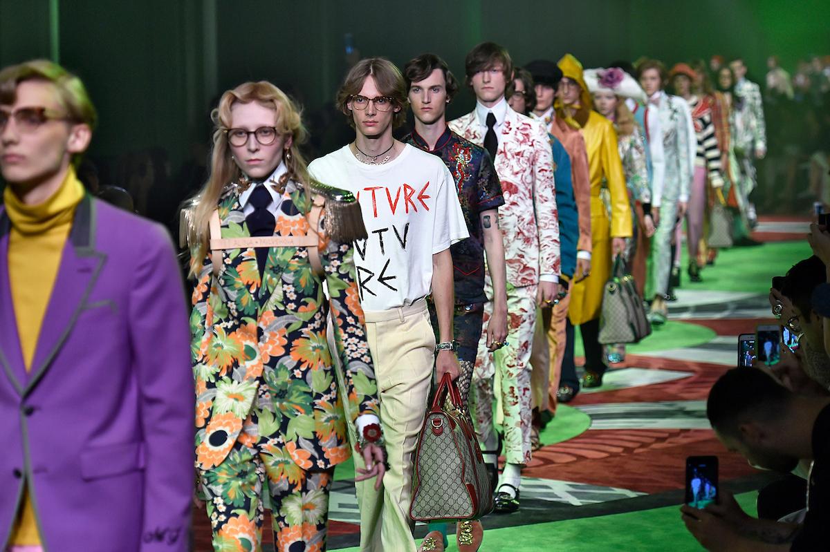 Desfile masculino da Gucci Verão 17 ©Agência Fotosite