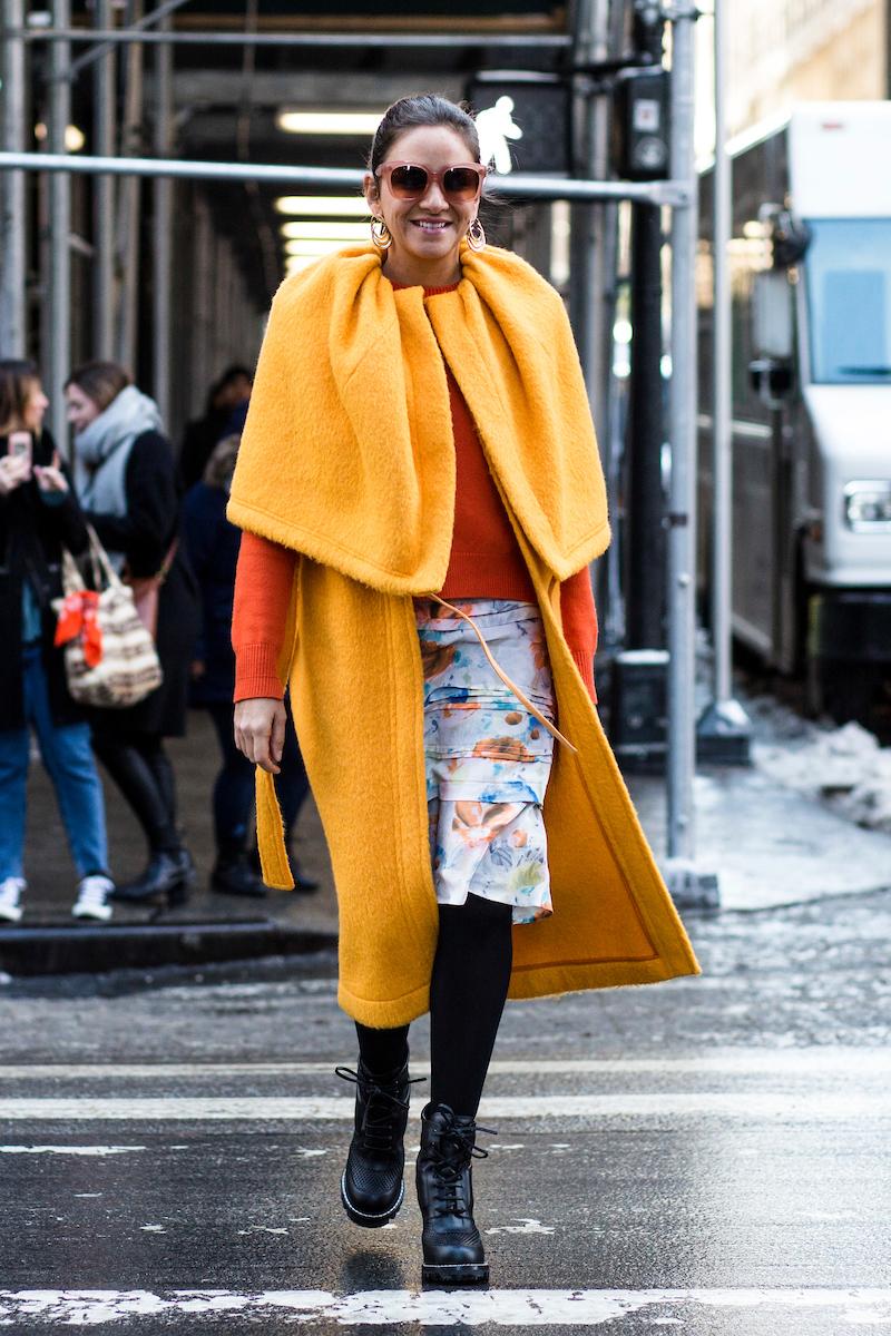 Galeria De Fotos Inverno Colorido Mais De 100 Fotos Do Street Style Da Nyfw Inverno 18