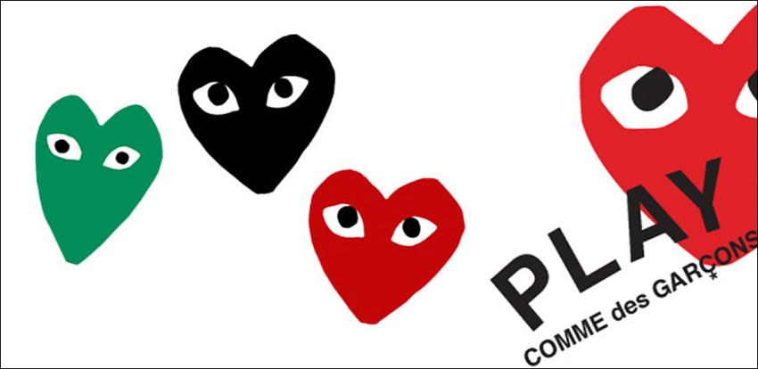 Os corações da linha Play, de camisetas, malhas e tênis ©Reprodução