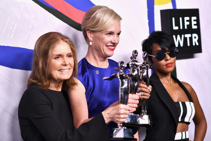 Gloria Steinem, Cecile Richards e Janelle Monae ©Reprodução